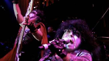 The littlest tribute band in the world, MiniKiss, performs live at LAX nightclub.