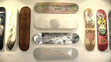 The Henri & Odette Gallery introduces its newest exhibit using skateboards as canvases.