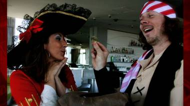 "Playboy's annual Midsummer Night's Dream party continues in Las Vegas with the theme ""A Pirate's Guilty Pleasure."" 702.tv's Denise Spidle and Ryan McAfee modeled some of the party costumes and plundered the details on this year's storyline."