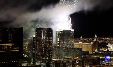 New Year's Eve on top of The Rio with Fireworks by Grucci.