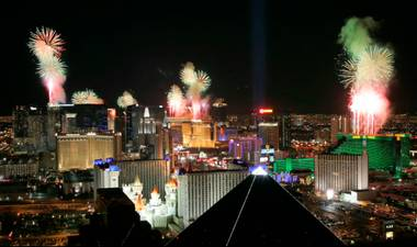 Ring in 2011 with this countdown and time-lapse of the New Year's Eve fireworks on the Las Vegas Strip.